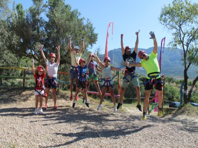 Treetop Course + Zip-Line in Huesca (For Families)