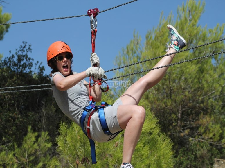Hanging and zip-lining