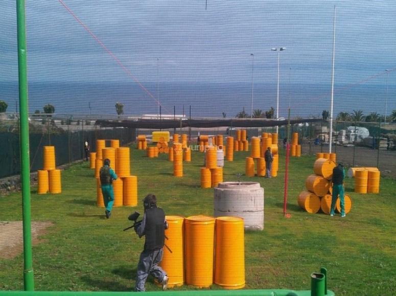 Campo de batalla al aire libre