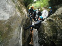 Rappelling towards the Well
