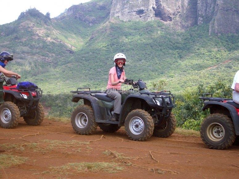 De excursion en quad