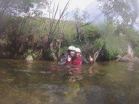 In the ravine pool
