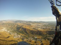 Flying over the Cenes de la Vega valley