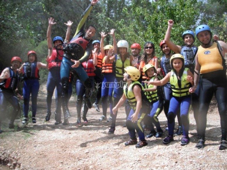 Rafting in famiglia