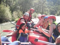 Rafting on Guadalimar river intermedium level