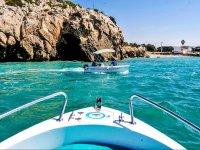 En barco desde Sitges