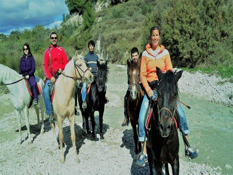 Salida en grupo para montar a caballo