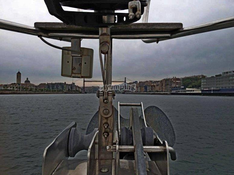 Entrando al puerto de Vizcaya