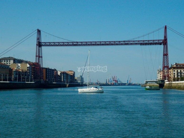 Vista del puente de Vizcaya