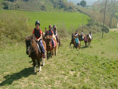 Horse-riding camp holy week in Barcelona