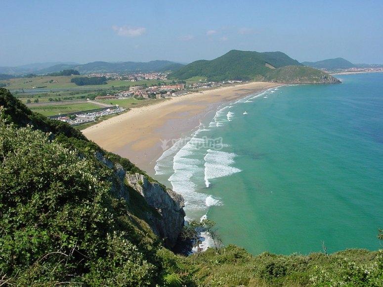 Playas de Cantabria de arena fina y dorada