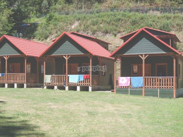 Cabanas con habitaciones