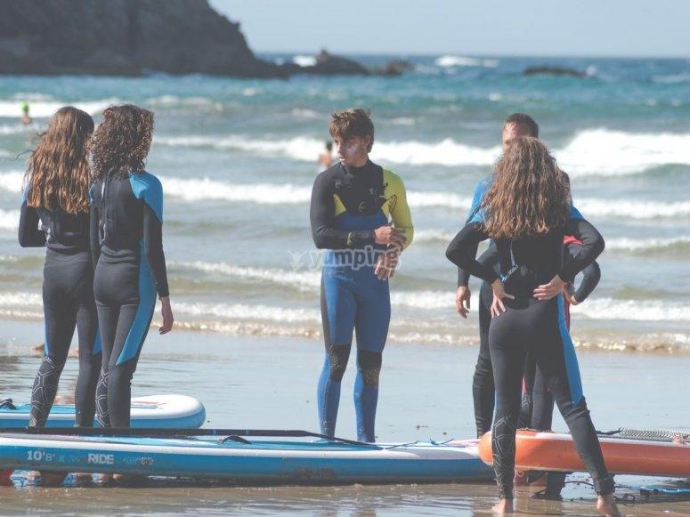 Clases de surf grupales