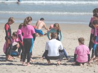 Clase teorica en la playa