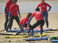 Clases de surf en playas de Cadiz