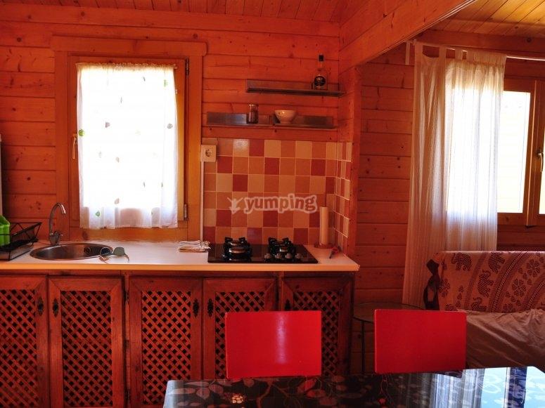 Preciosa cocina en la casita