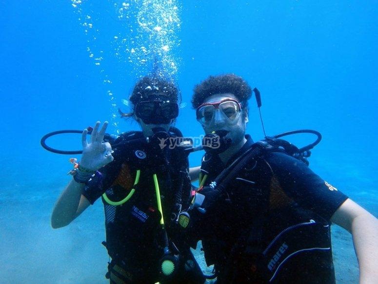 Primera inmersion en aguas abiertas