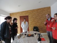 During the tasting with the specialist