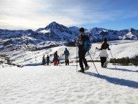 冬季喷泉雪鞋探险