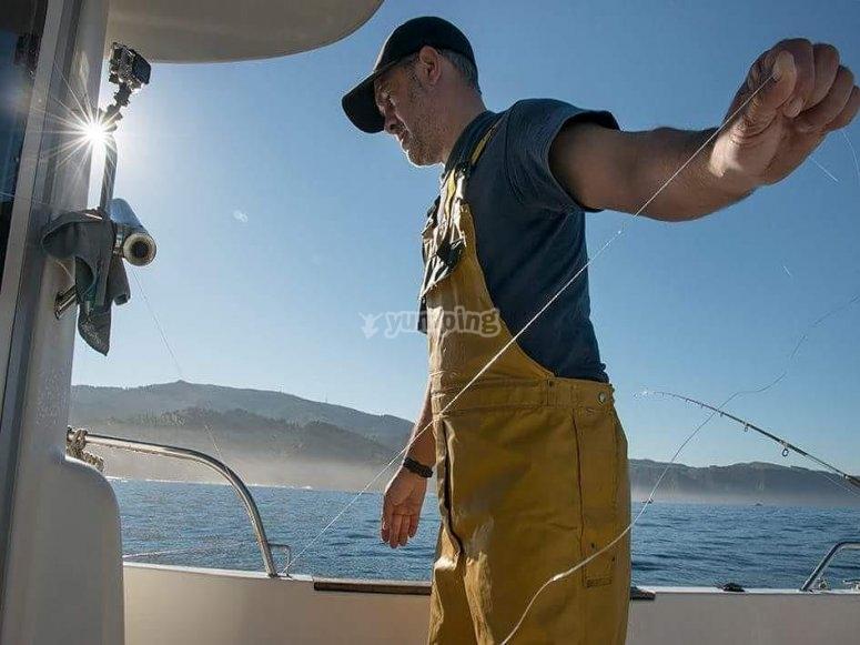 Capitan experto en tecnicas de pesca