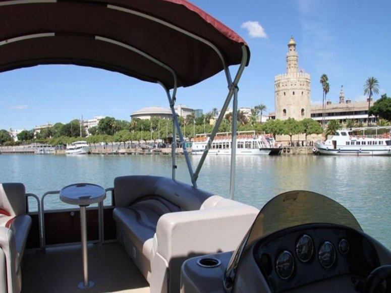 Viendo la Torre del Oro desde el barco