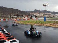 En la carrera con las karts