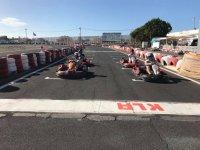 Parrilla de salida del karting