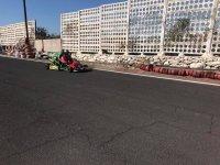 Pilotando un kart de competicion