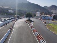 Diferentes tramos del circuito de karting