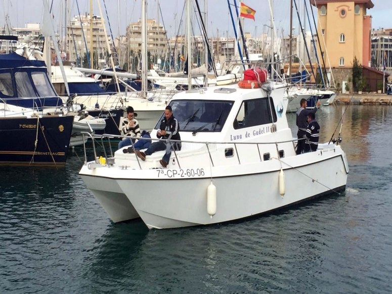 A bordo del gran catamaran