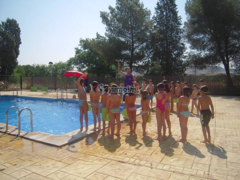 Ejercicios en la piscina