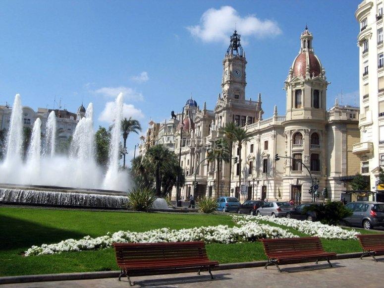 Fuente en la plaza del Ayuntamiento