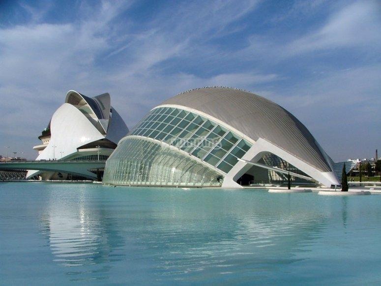 Exterior de la Ciudad de las artes y las ciencias
