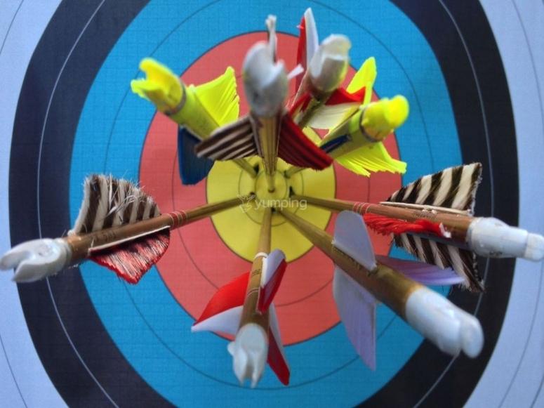 Flechas en el centro