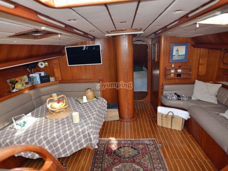 Dining room of the boat