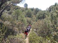 Senderistas en la Sierra de Cordoba