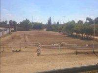 Outdoor track for riding lessons
