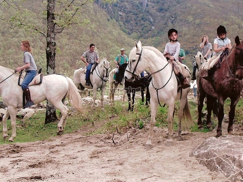 Family horse route in Cáceres countryside