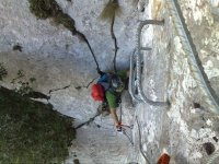 Following the via ferrata
