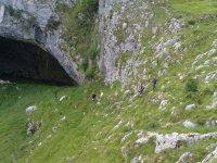 Llegando a Cueva Cilona
