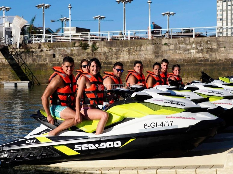 Modern jet skis for one or two people