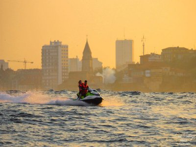 Jet ski route across Gijon's coastline 1hour