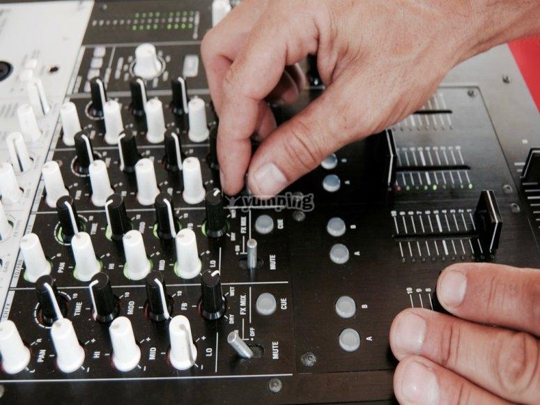 Equipo moderno de musica