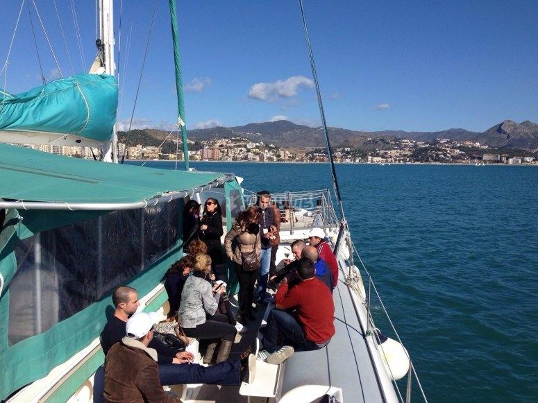 Fiesta de empresa en el mar Mediterraneo