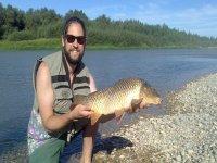 Pescando en Navarra
