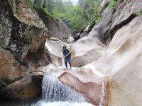 Parque acuático natural en el Pirineo