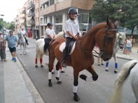Riding the horses through the streets