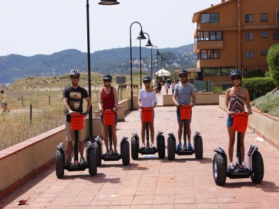 Segway tour over the beach in Pals