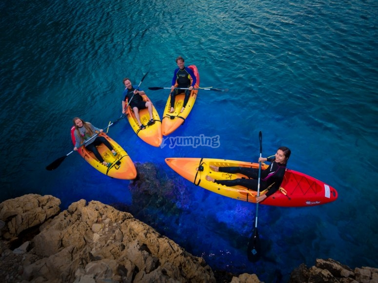 Kayaks en ruta nocturna