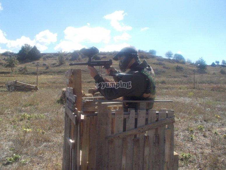 disparando desde el fuerte